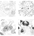 set of summer seamless wallpaper vector image