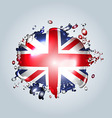 Water droplets with a English flag vector image