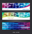 Collection abstract banner design Horizontal vector image vector image