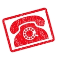 Pulse Phone Icon Rubber Stamp vector image