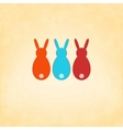 Easter Bunny card template design  EPS8 vector image