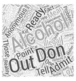 alcoholics anonymous Word Cloud Concept vector image