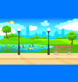 light city park landscape background vector image