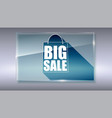 big sale text banner on gray backdrop ready to vector image