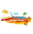 Boat Race of Kerla on Onam vector image vector image