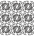 seamless background flowers floral - pattern vector image