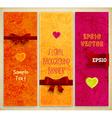 Floral Background Banner Set vector image