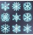 Glitter snowflake vector image vector image