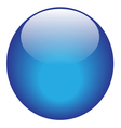 Blue glossy ball vector image