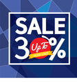 Sale Uo To 30 Percent Banner vector image