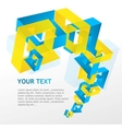 Abstract geometric and text vector image