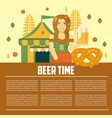 beer letterhead template vector image