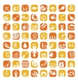 big color farm icon set vector image