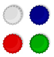 Bottle caps collection vector image
