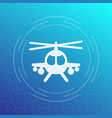 combat helicopter icon pictogram vector image