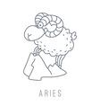 ram Aries vector image