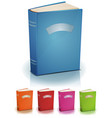 set of standing books with label vector image