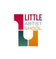 sign for children art school vector image