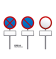traffic sign red color vector image