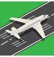 Passenger Airplane Isometric Landing vector image