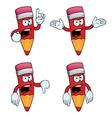 Very angry cartoon pencils set vector image vector image