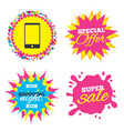 smartphone sign icon support symbol vector image
