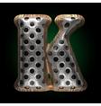 metal and wood figure k vector image vector image