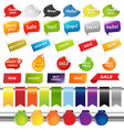 Set Of Colorful Sale Stickers And Labels vector image vector image