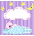 sleeping pink bear vector image