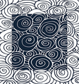 Waves hand-drawn pattern curled frame square vector image