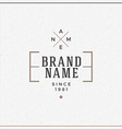 Minimal and Clean Vintage Hipster Logotype vector image