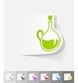 realistic design element decanter vector image