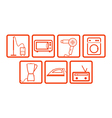 domestic icons set vector image