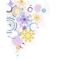 abstract background with multicolor circles vector image