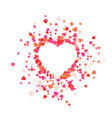 big heart is torn to pieces vector image