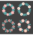 Floral Frame Collection Cute retro flowers vector image