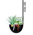 Grow Vegetable Garden and Cook Soup vector image