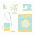 Household appliances set vector image