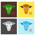 set of flat sheep to fall asleep vector image