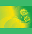 three dandelions on abstract background vector image