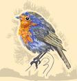 water color bird vector image