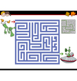 maze activity for kids vector image vector image