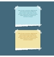Set of different note colorful papers vector image