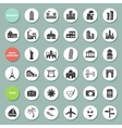 Buildings landmarks and travel icons vector image