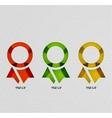 Insignia paper modern design vector image vector image