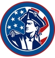 American revolutionary soldier with Stars and vector image vector image