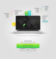 Website templare elements V-card Mock-up template vector image vector image