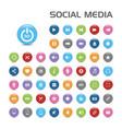 50 social media bubble icons vector image