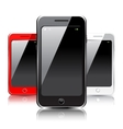 smartphone icons vector image vector image