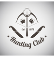 Hunting Emblem vector image vector image